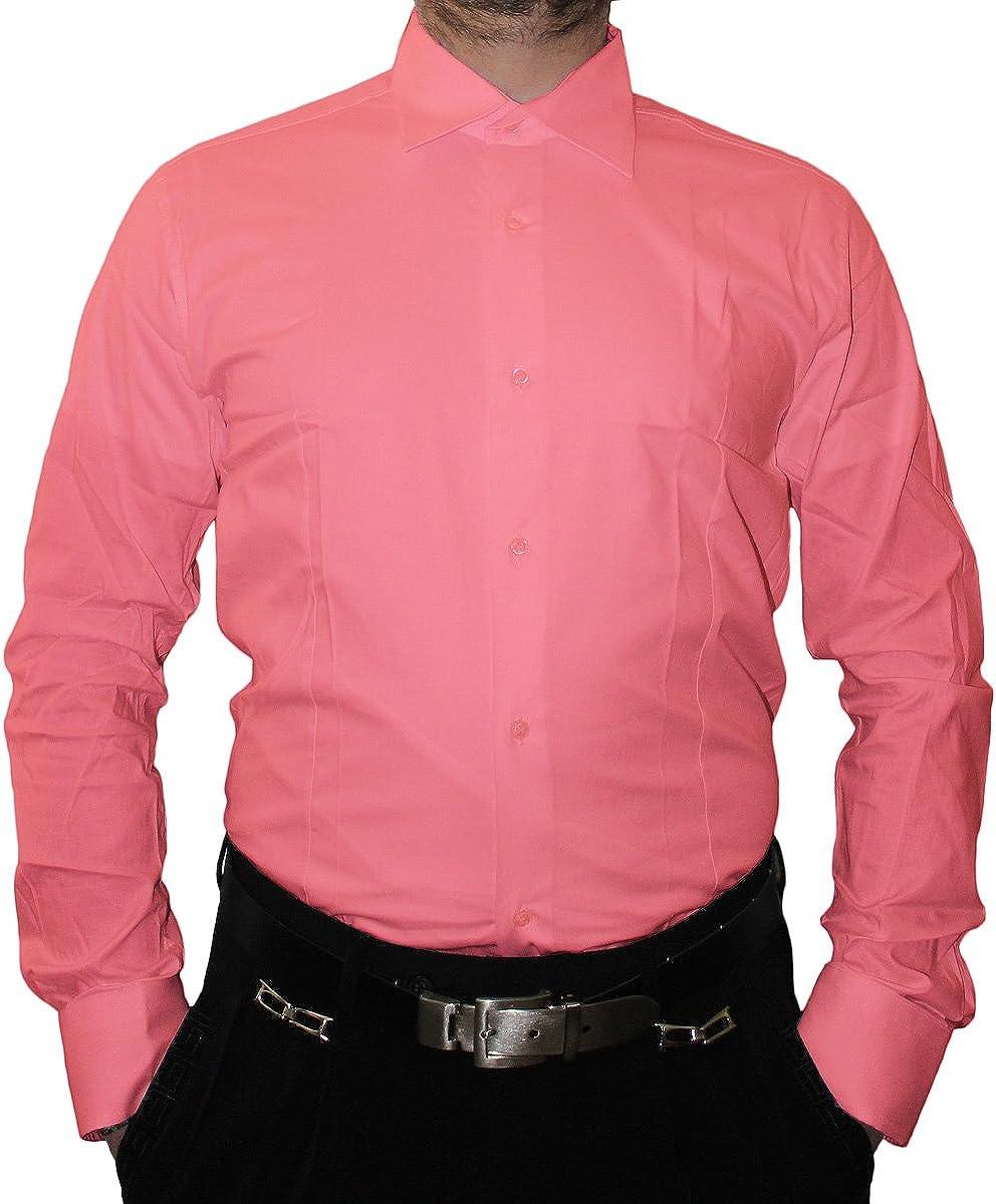 Designer Hombre Camisa Slim Fit Entallado Cuello clásico Manga Larga Bügel Libre Muchos Colores Slimfit Bodyfit Rosa 39: Amazon.es: Ropa y accesorios