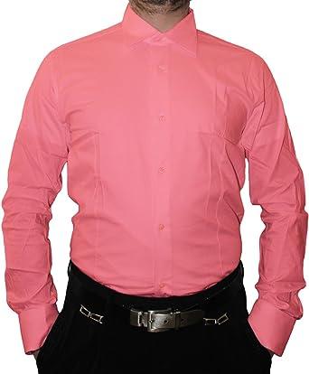 Designer Hombre Camisa Slim Fit Entallado Cuello clásico ...