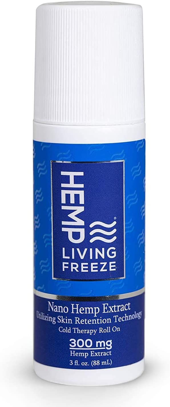 Hemp Living Freeze Hemp Extract Topical Roll On 300 MG | Enhanced Absorption | Premium Pain Relief | 3 oz Roll on Bottle