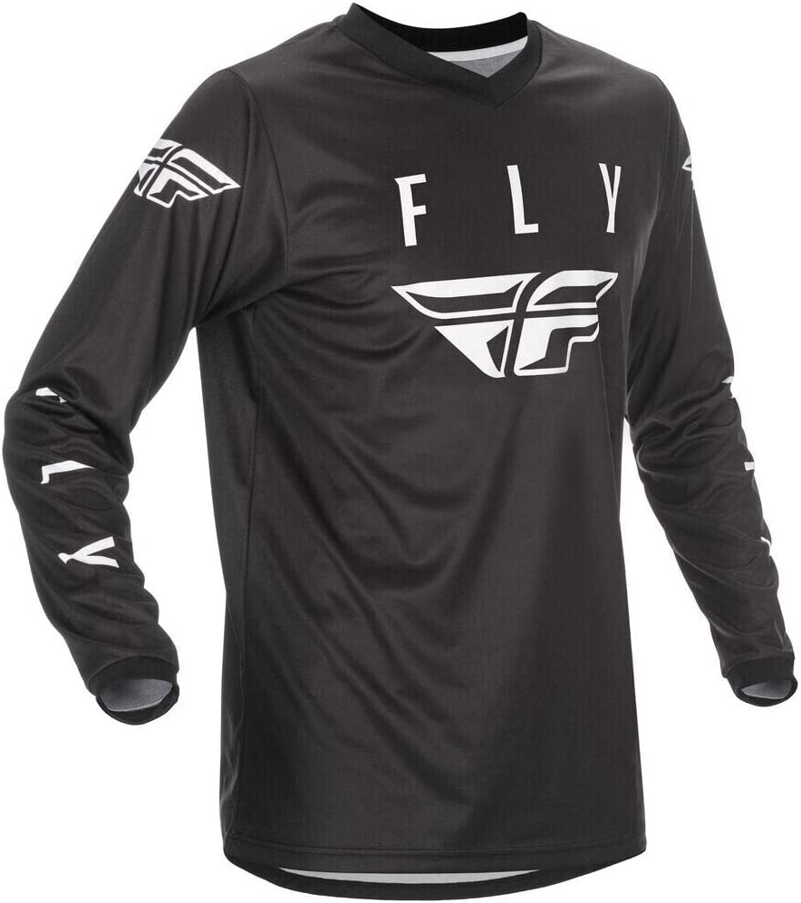 Fly Racing 2021 Universal Jersey White//Black Large