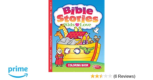 Bible Stories Kids Love Coloring Book Ages 2 4 Pack Of 6 Warner