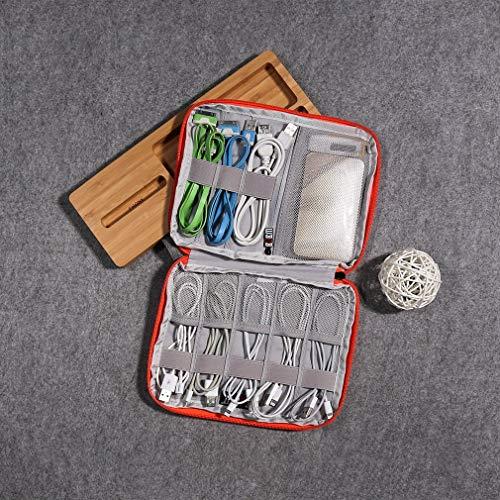 Bangcool Compact Size Waterproof Nylon Wire Digital Data Cable Storage Bag Organizer