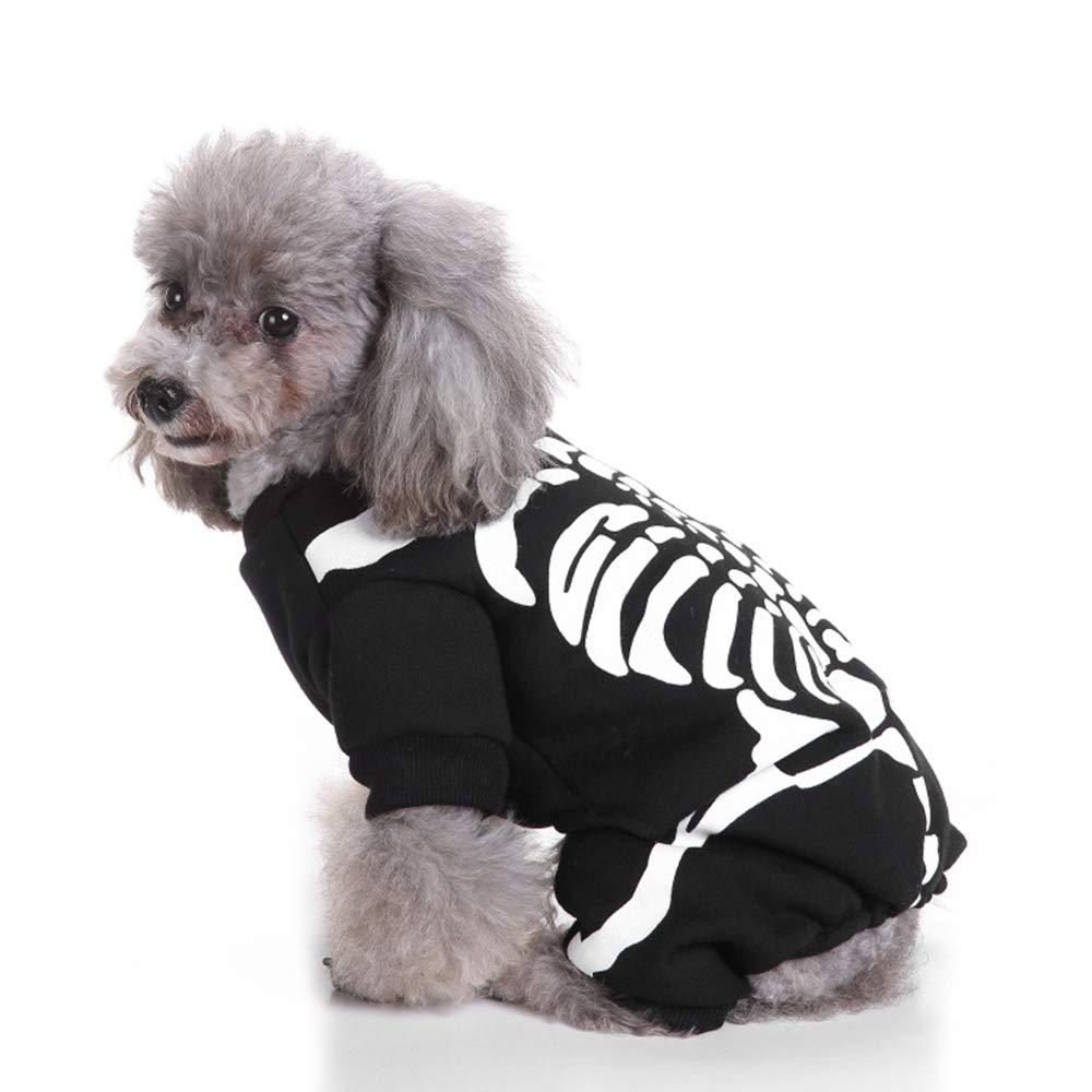 KDSANSO Ropa para Mascotas,Disfraces de Halloween para Mascotas y Navidad Disfraces de Ropa para Perros Gato Black M