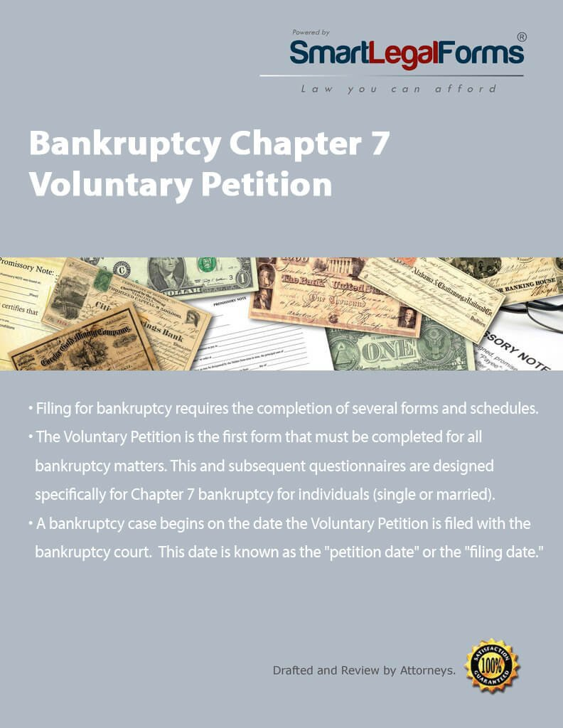 Bankruptcy Chapter 7 Voluntary Petition [Instant Access] by SmartLegalForms, Inc.