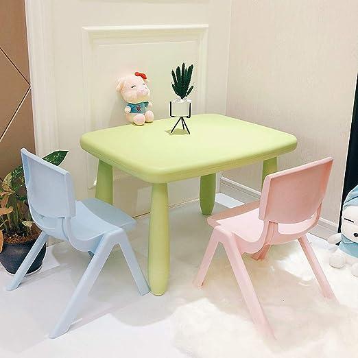 ZH Mesa para niños y 2 sillas, Juego de Mesa y Silla de plástico ...