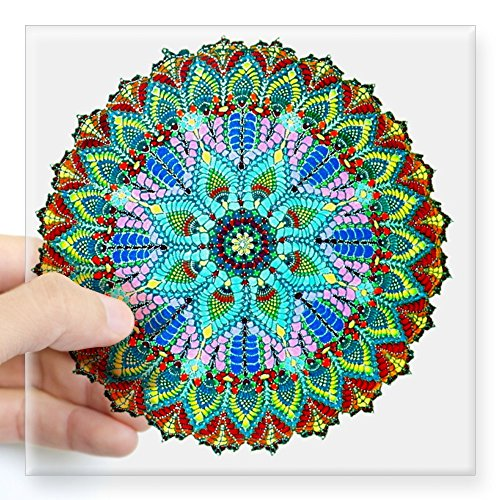 CafePress Mandala Color Square Sticker