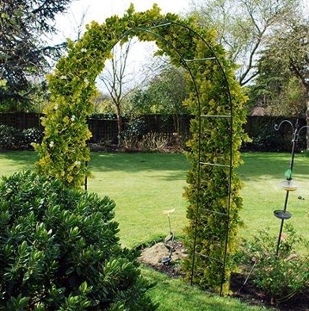 2.4m Acero Jardín Rosa Arco para escalada plantas Espaldera: Amazon.es: Jardín