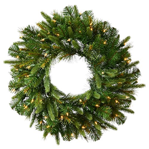 Pre Lit Artificial Pine Wreath - Vickerman 36