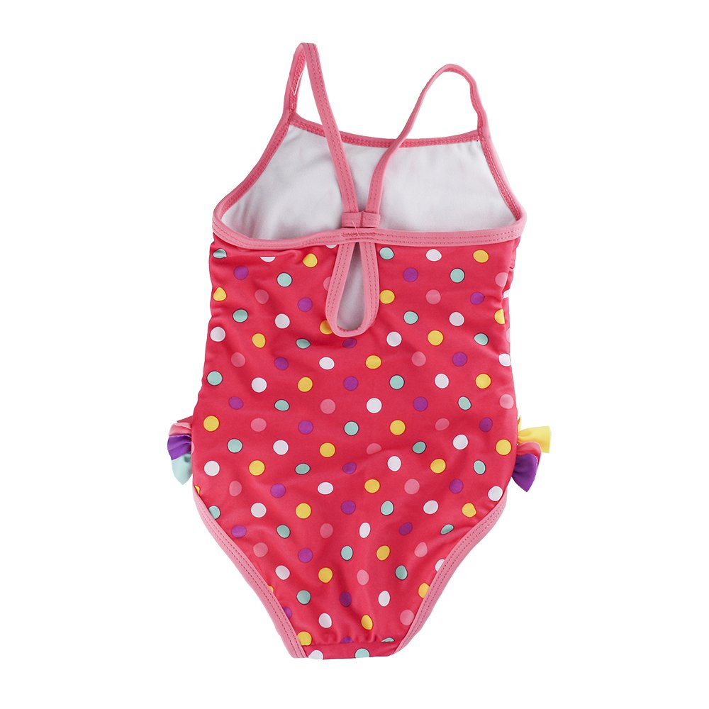 Disney Store Girls Minnie Mouse Bows One-Piece Swimsuit Pink