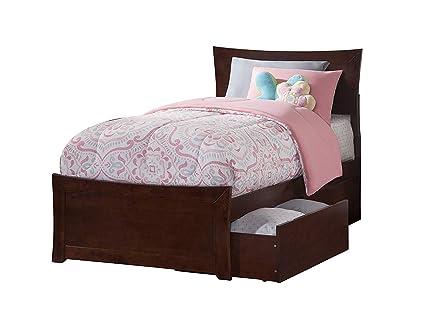 Amazon Com Atlantic Furniture Ar9016114 Metro Platform Bed With 2