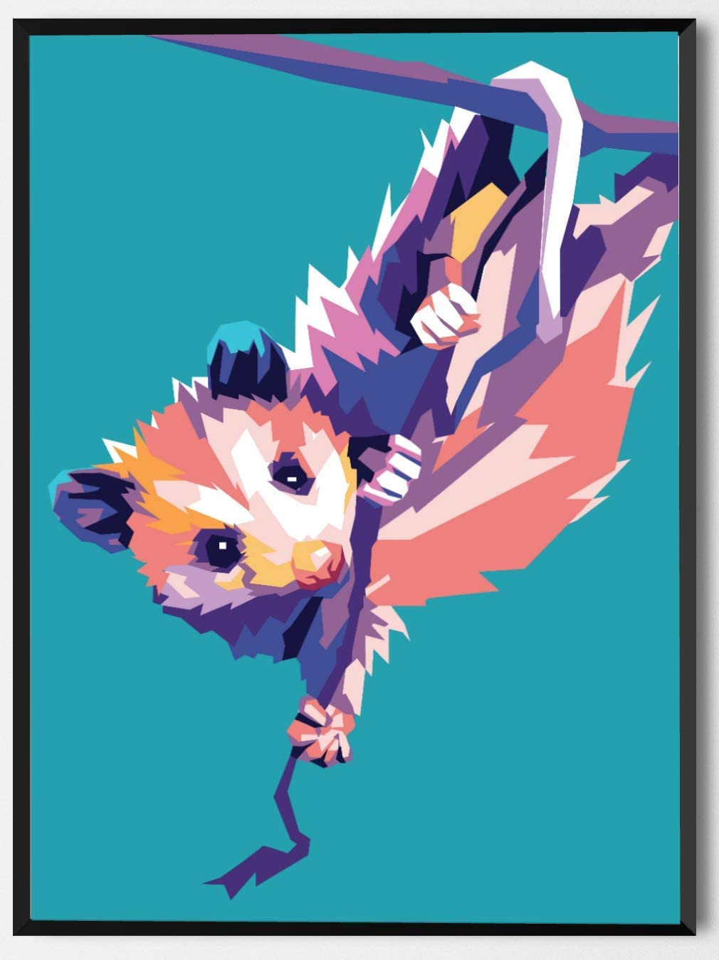 OMG Pop Prints Opossum Limited Poster Artwork - Professional Wall Art Merchandise (More (8x10)