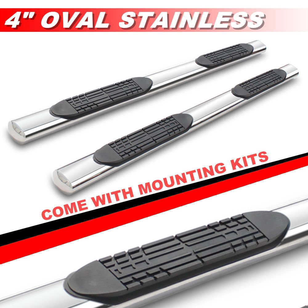 Viksee 5 Oval Side Steps Fit 1999-2018 Chevy Silverado 1500//2500//3500 Double Cab Nerf Bars