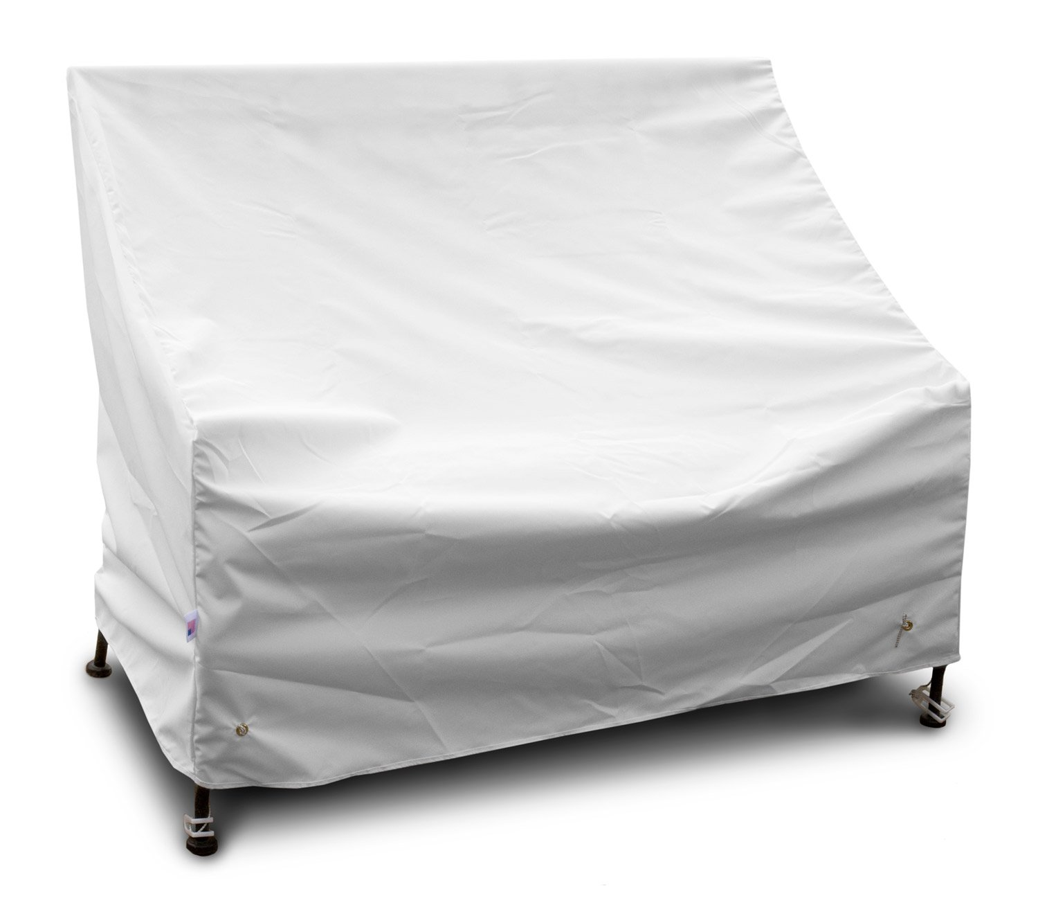KoverRoos Weathermax 14204 5-Feet Bench/Glider Cover, 75-Inch Width by 28-Inch Diameter by 37-Inch Height, White by KOVERROOS (Image #1)
