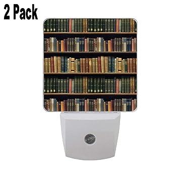Amazon.com: Endless Library (Pattern) 2PCs Plug in Night ...