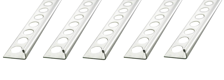 25 METER – Höhe: 10 mm PREMIUM FUCHS Fliesenschiene Winkelprofil Edelstahl V2A Glänzend – 1mm Stärke (kein Verdrehen oder Verbiegen möglich) Fuchs Design