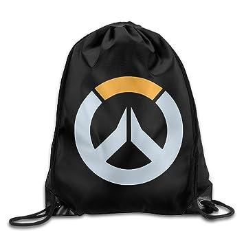 Amazon.com: Overwatch Logo Drawstring Bags Sports Backpack Sport ...