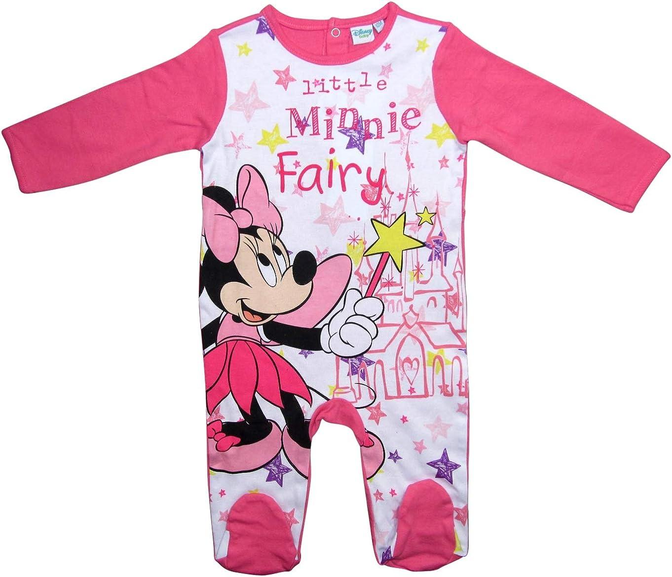 Disney Minnie Maus oder Bambi Baby Schlafanzug Overall Strampler 62//68 86//92