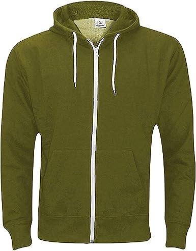 New Plain Mens Hoodie American Fleece Zip Up Jacket Sweatshirt Hooded Top M-XXXL