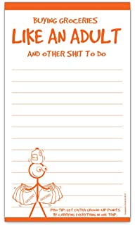 grocery list magnet pad buying groceries like an adult funny gift