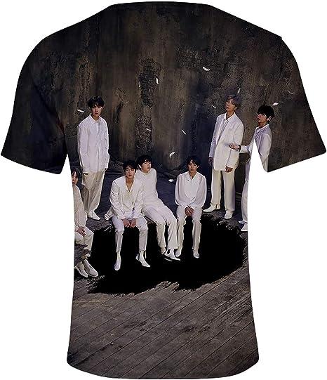 OLIPHEE Camisetas en 3D Impreso Fotos de BTS Music CD 7 Camisa Fantástica para Mujer 425-1-3XL: Amazon.es: Ropa y accesorios