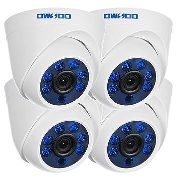 "KKmoon 4pcs 720P AHD 1//4/"" Color CMOS Sensor Indoor Dome CCTV Security Camera Kit"