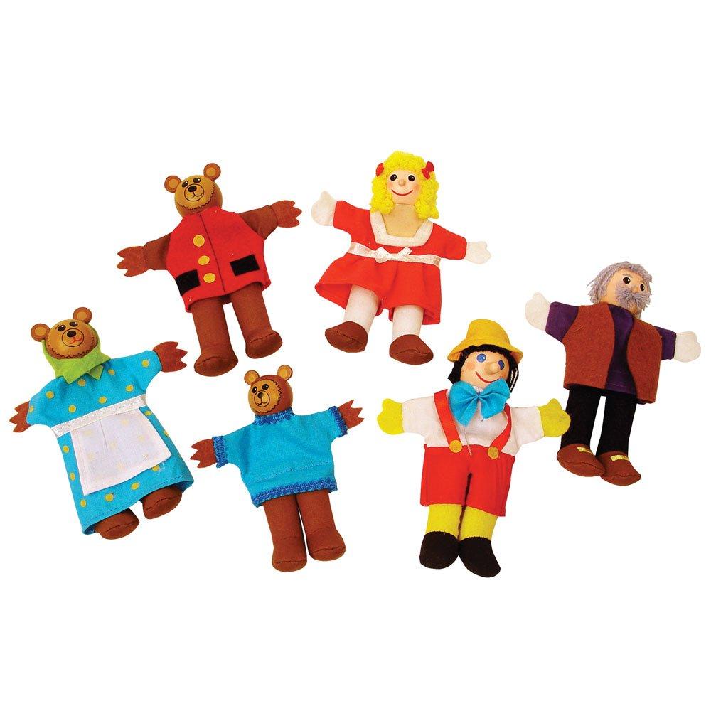 Bigjigs Toys Goldilocks Finger Puppets 691621087060
