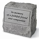 In Memory of A Faithful Friend Pet Memorial Stone with Urn Review