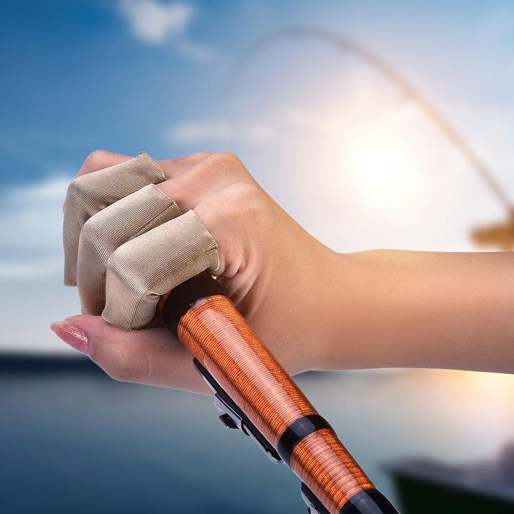 Tbest Proteggi Manica Dito 3pcs Protezione per la Pelle da Dito Protezione per Dita da Pesca Fly Line Stripping Guard Stalla Protettiva Accessorio per attrezzo