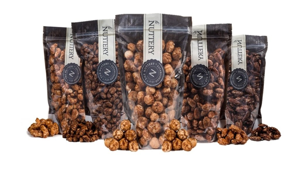 The Nuttery Freshly Roasted and Glazed Pecans - One (1) Lb Bag of Kosher Sweet Pecan Nuts