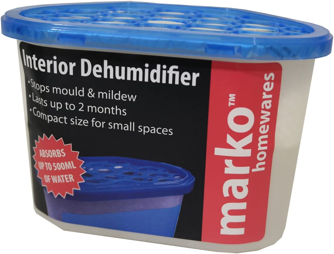5 x Interior Dehumidifier 230g Disposable Car Home Mould Mildew Damp Moisture