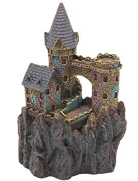 BPS® Castillo para Decoración Acuario Ornamento Acuario Seguro para la Decoración de Tanque de Pez Fish Tank 7 x 8 x 14 cm BPS-6612: Amazon.es: Jardín