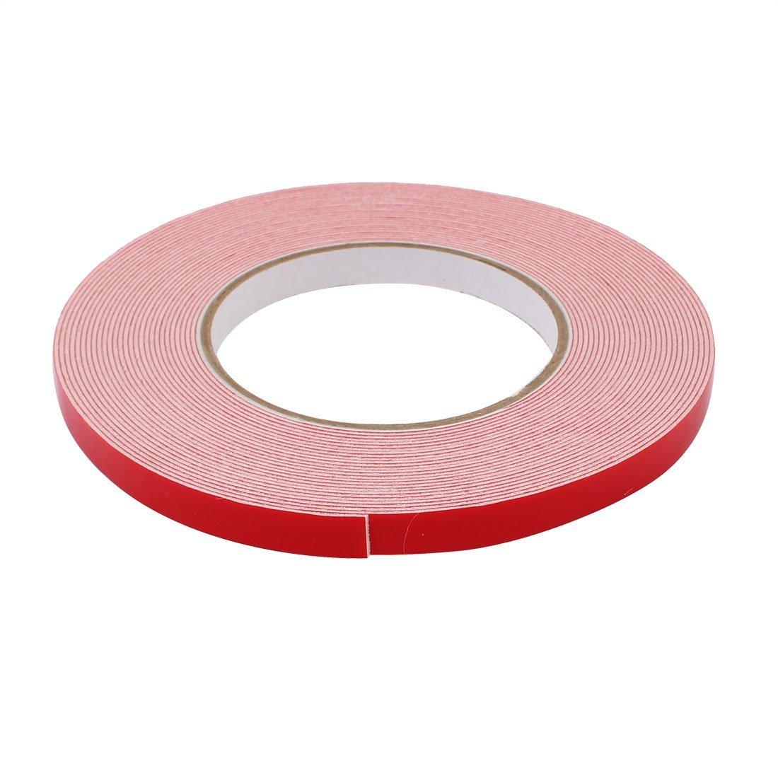 eDealMax 10M Longitud x 10 mm Anchura blanca doble cara auto-adhesivo de la cinta de espuma de la esponja para el coche - - Amazon.com