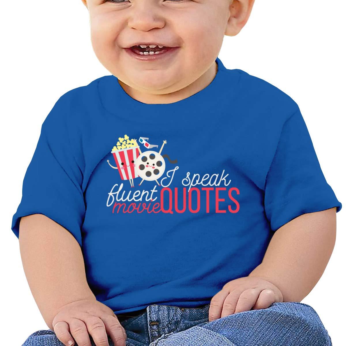 I Speak Fluent Movie Quotes Short-Sleeves T Shirt Baby Boys Kids