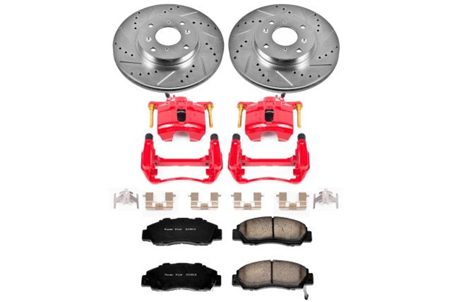 Power Stop KC1237 1-Click Performance Front Brake Kit with Calipers