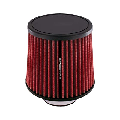 Spectre Universal Clamp-On Air Filter: High Performance, Washable Filter: Round Tapered; 2.75 in Flange ID; 6.906 in (175 mm) Height; 6.063 in (154 mm) Base; 5.156 in (131 mm) Top, SPE-HPR9888: Automotive
