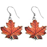 Danforth - Maple Leaf / autumn Pewter Wire Earrings