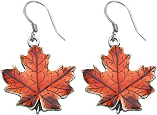 product image for DANFORTH - Maple Leaf/Autumn Earrings - 3/4 Inch - Pewter - Handcrafted - Surgical Steel Wires - Made in USA