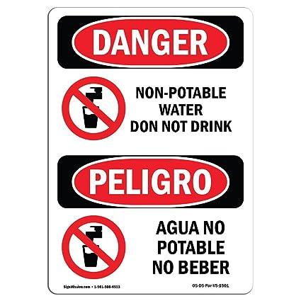 Señal de Osha Danger - no apto para agua potable no bebida ...