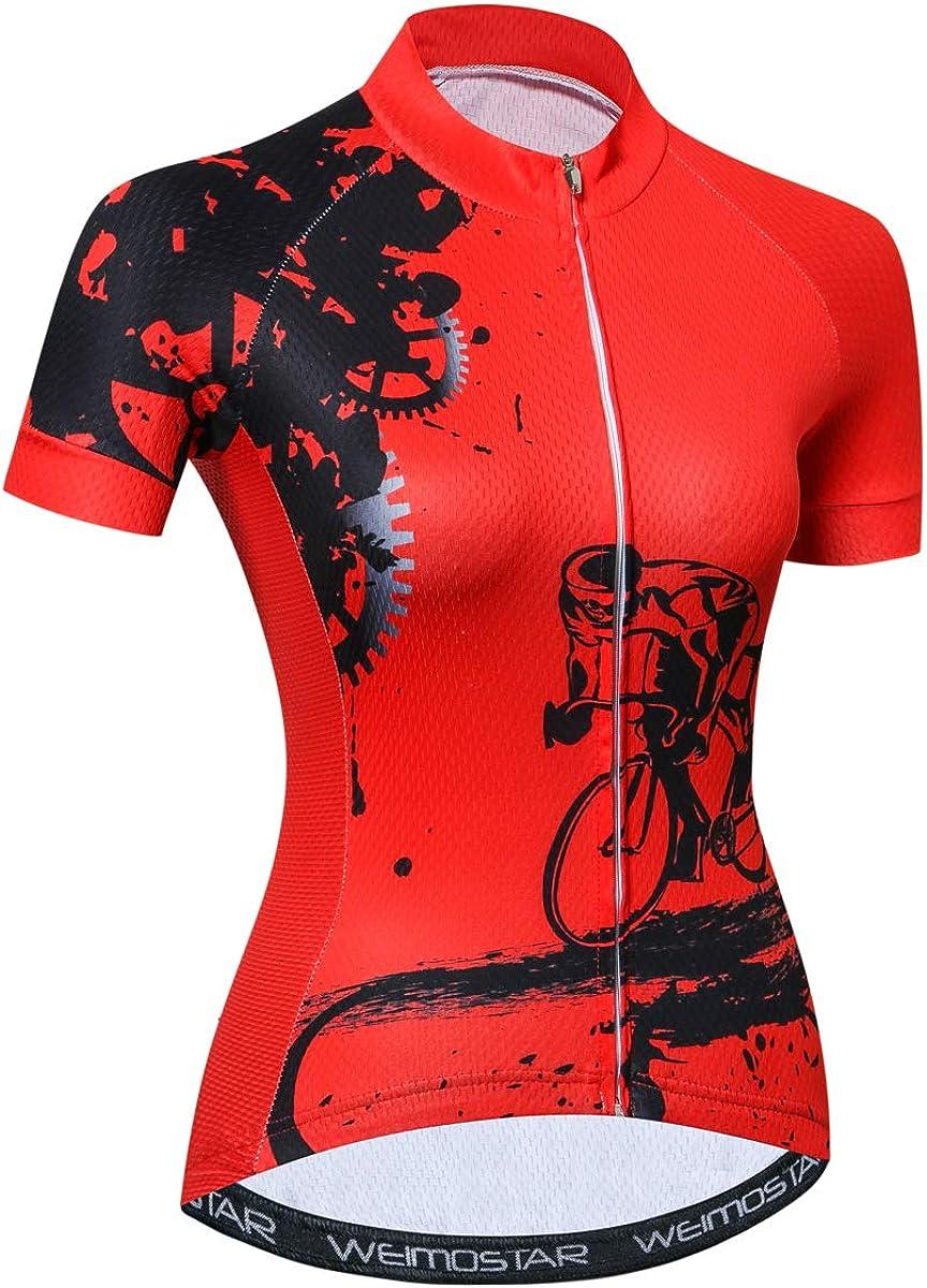 Weimostar Women Cycling Jersey Short Sleeve Shirt Bike Tops Bicycle Clothing: Clothing