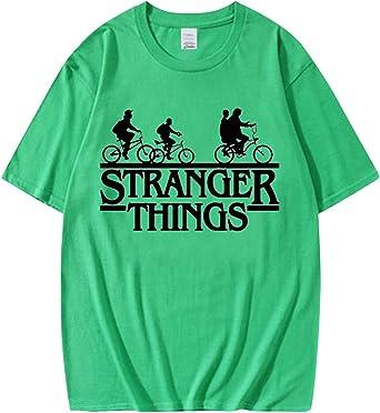 Camiseta Stranger Things Niña, Camiseta Stranger Things Unisex Mujer Hombre Impresión de Cartas Deporte T-Shirt Desgaste de La Pareja Camiseta de Verano Regalo Camisetas y Tops: Amazon.es: Ropa y accesorios