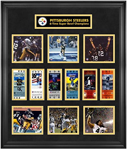 9837a4e05 Image Unavailable. Image not available for. Color  Pittsburgh Steelers  Framed Super Bowl Ticket ...