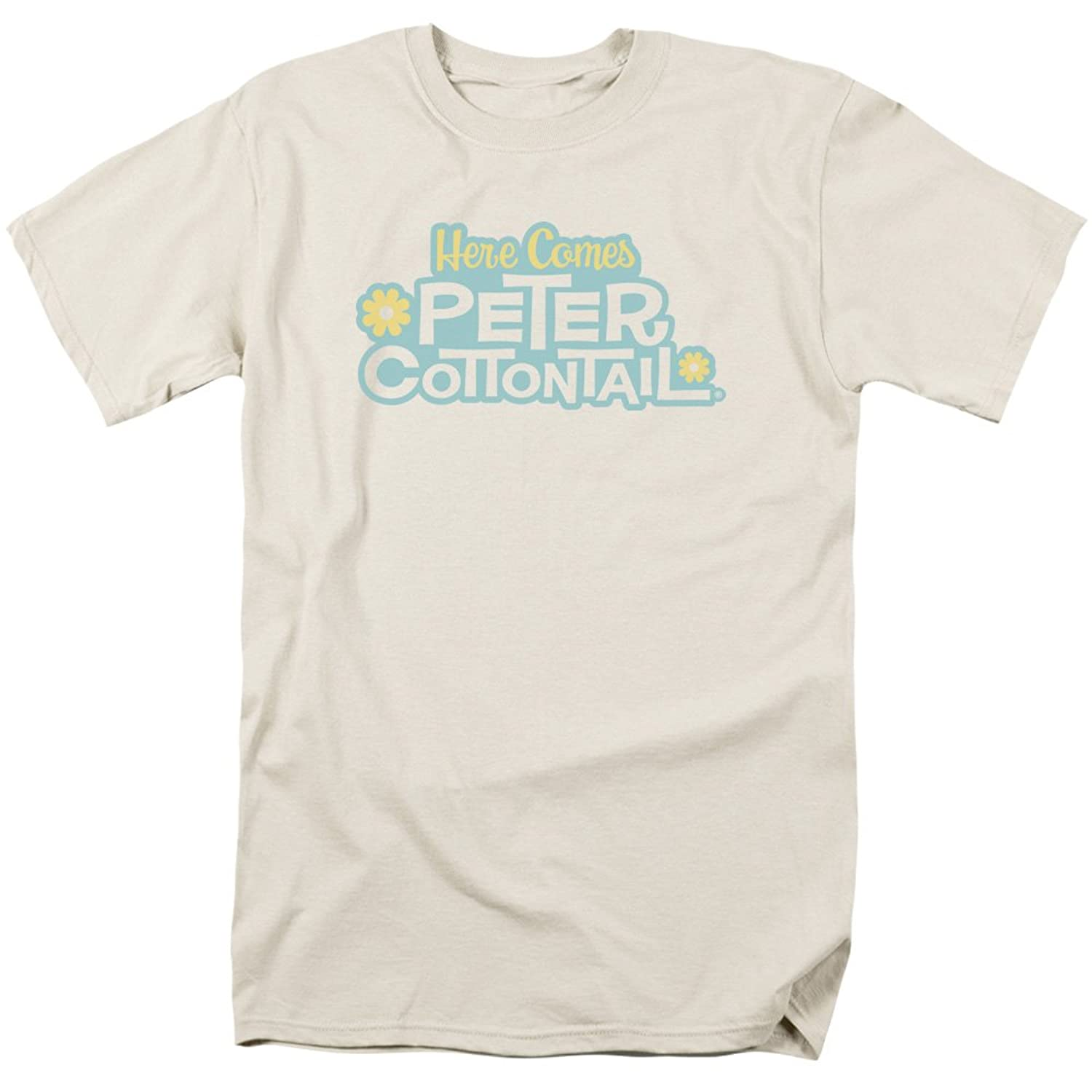Here Comes Peter Cottontail Animated Holiday Film Logo Cream Adult T-Shirt
