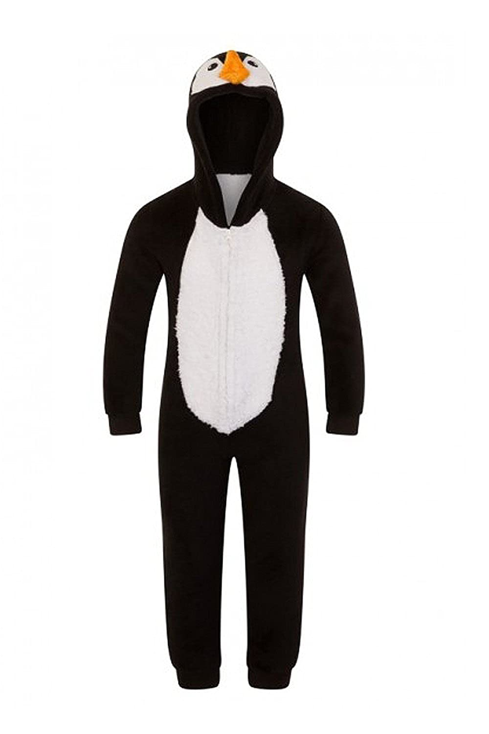 Nifty Kids Loungeable Boutique Novelty 3D Penguin Kids Luxury Soft Dressing Gown Robe Or All In One