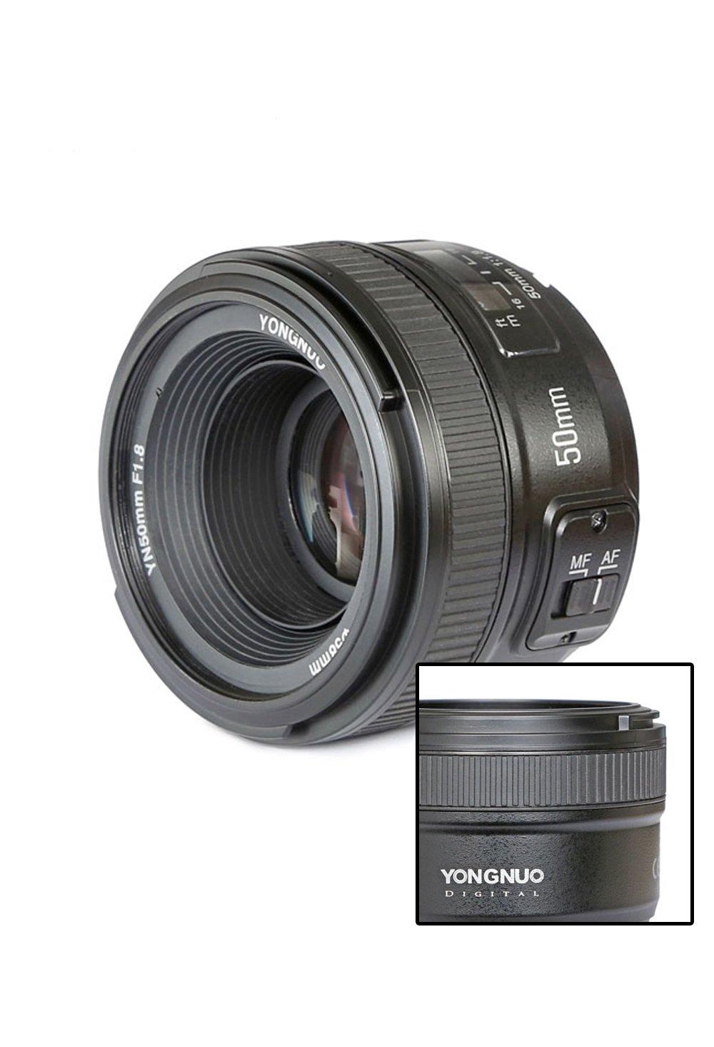 Yongnuo YN50MM F1,8 Lente Objetivo (Apertura F/1,8) Para Nikon DSLR ...