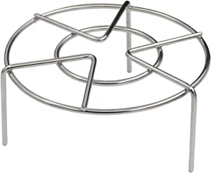 Z ZICOME Stainless Steel Steam Rack Stand Steaming Trivet, 6