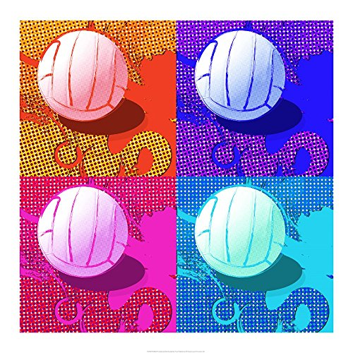 Volleyball Pop by Sports Mania Art Print