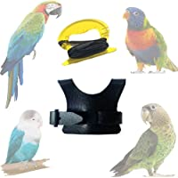 Bird Harness, Pet Bird Harness with 8 Ft Leash for Conures, Adjustable Bird Flying Harness Traction Rope for Parrot…