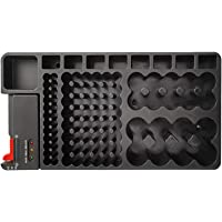 Convenience The Battery Organizer Storage Case with Removable Battery Tester Checker for Home