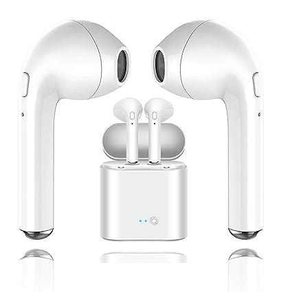 Auricular Bluetooth, i7 Auricular inalámbrico con Auricular Que Carga Mini Auricular con micrófono, Compatible