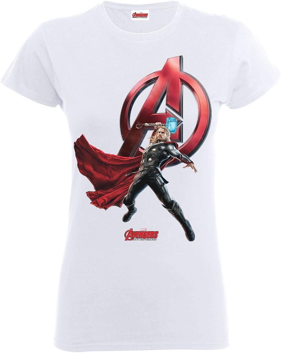 De Los Vengadores de Age Of Ultron Thor T-camiseta de manga ...